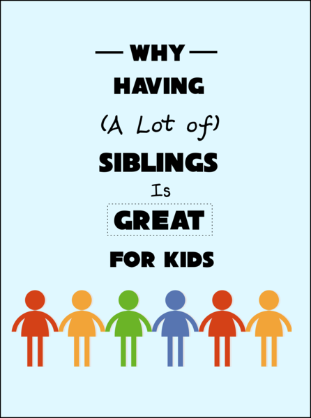 Why Having (a Lot of) Siblings Is Great for Kids -- Why my kids love having many brothers and sisters, including an awesome prediction for their future.  {posted @ Unremarkable Files}
