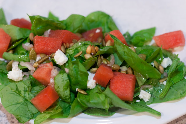 ... Recipe: Watermelon, Feta & Pepita Salad with a Sweet Lime Vinaigrette