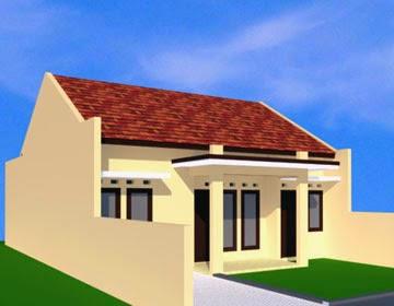 Gambar Rumah Minimalis Type 60 - Sudut Kiri