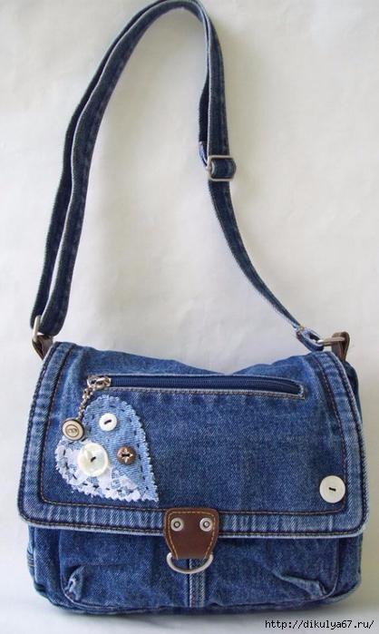 Как сшить сумку из старых джинсов своими руками