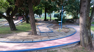Photo of the Minigolf course in Sirmione, Italy