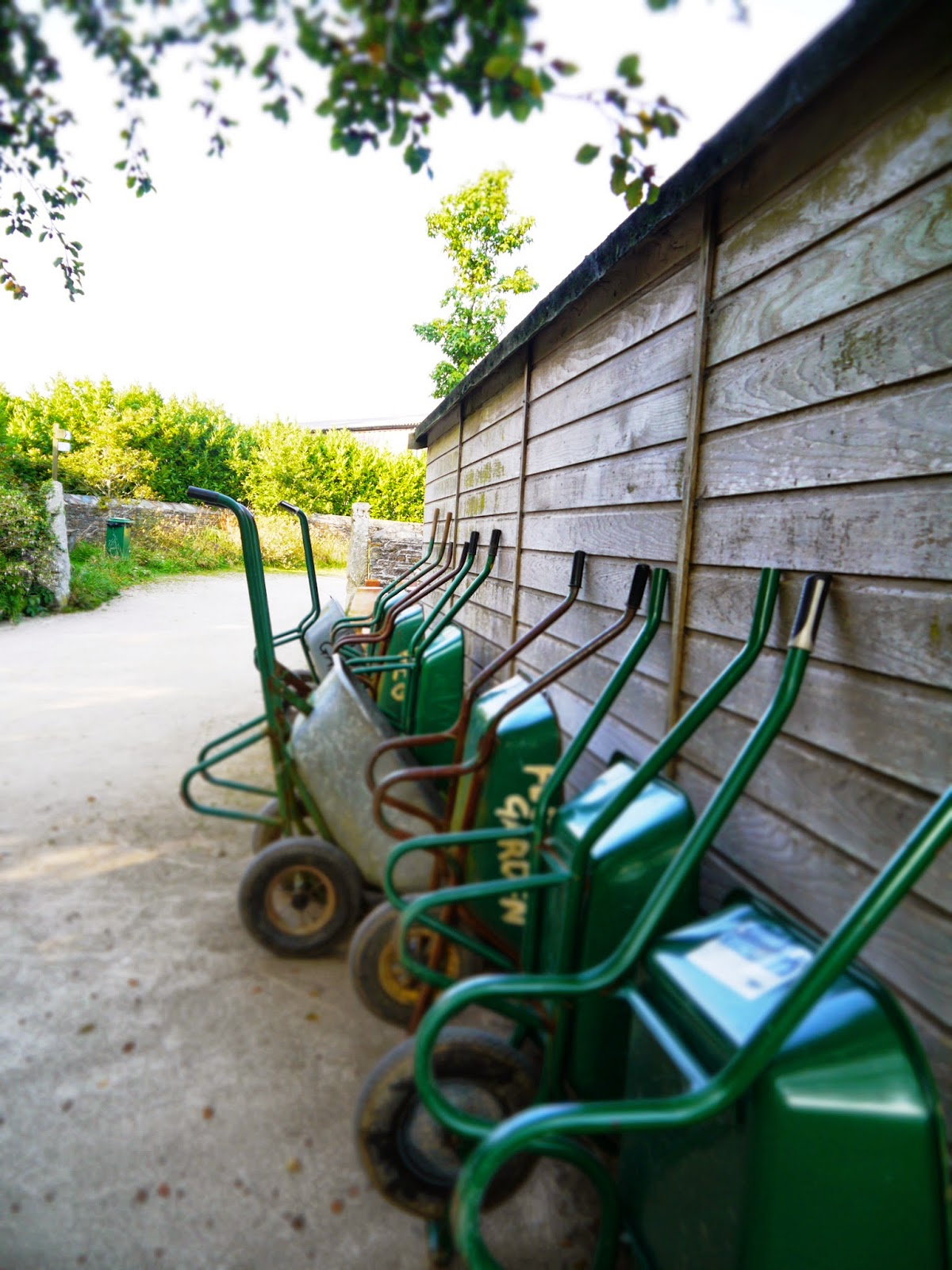 The Lost Gardens of Heligan, Cornwall - wheelbarrows