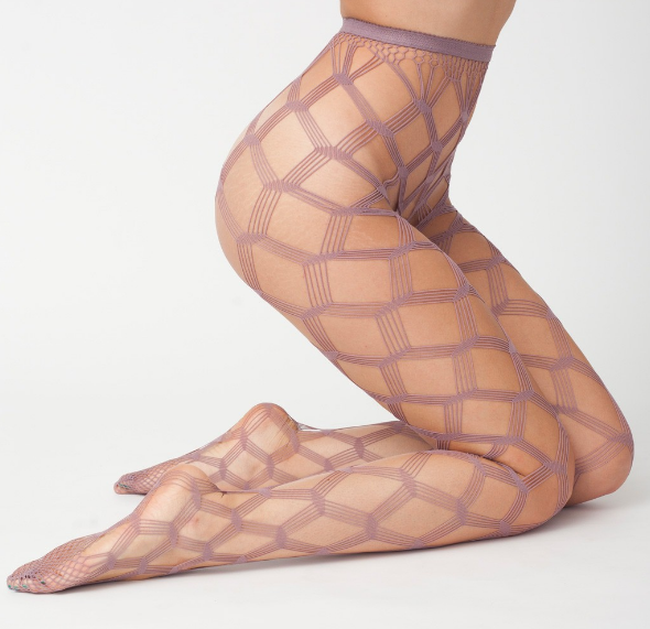 American Apparel Geo Mesh Tights in Twilight, American Apparel Tights, Geo Mesh Tights, Turnabout find