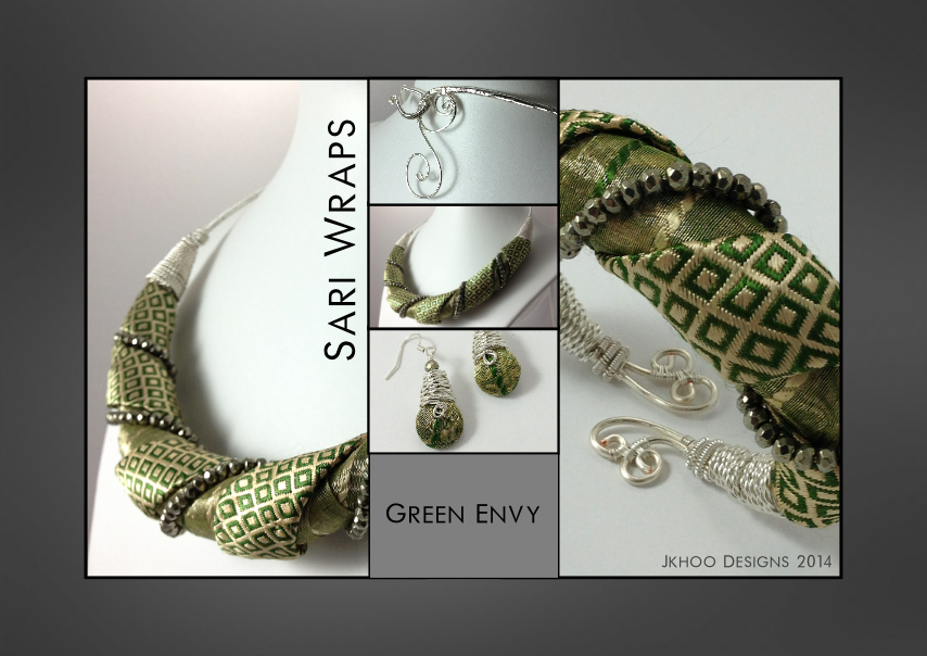 Green Envy Sari Wraps