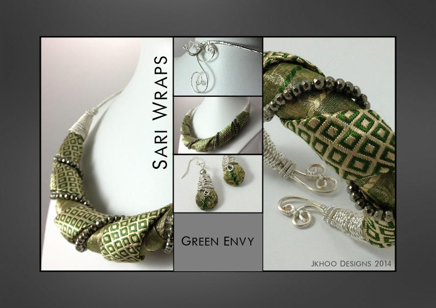 Green Envy Sari Wraps