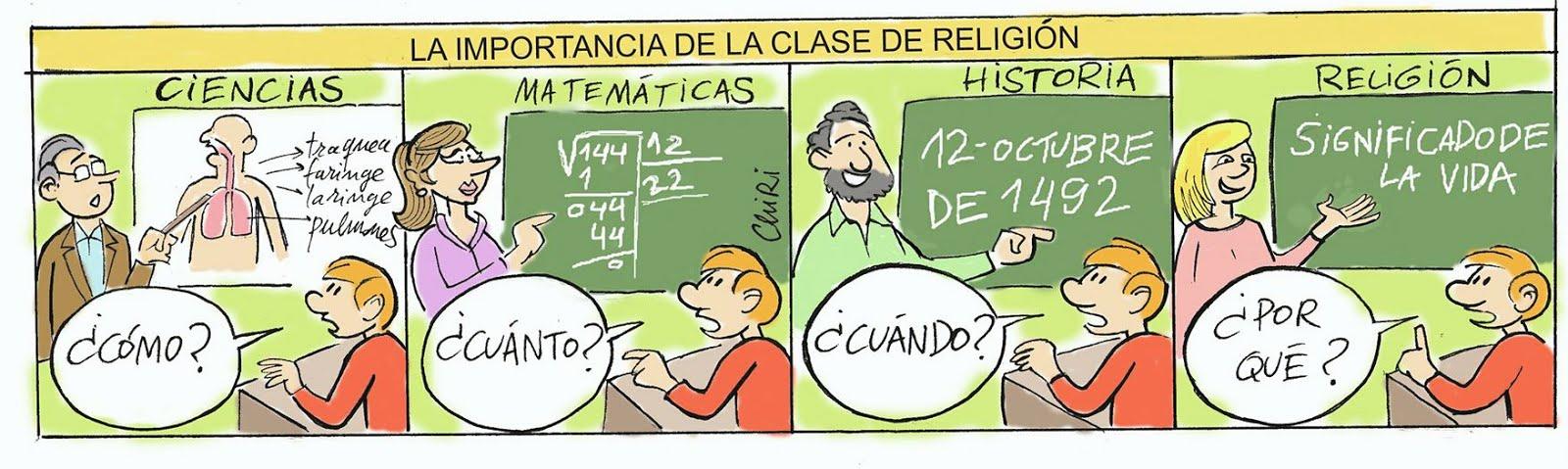 IMPORTANCIA DE LA CLASE DE RELIGIÓN