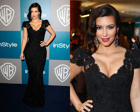 kim kardashian bruce oldfield dress golden globes 2012