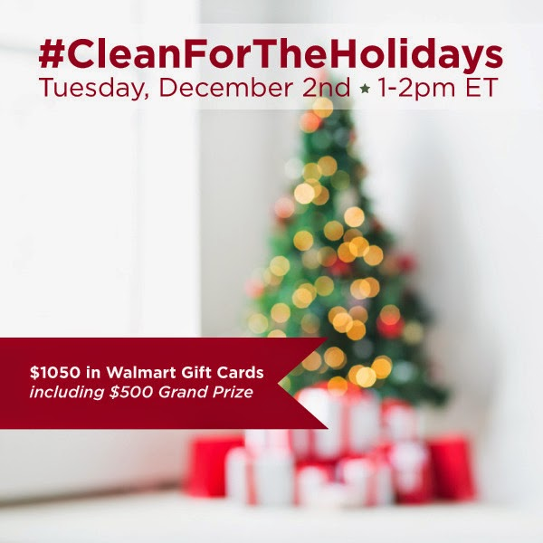 RSVP for the #CleanForTheHolidays Twitter Party December 2 at 1pm EST