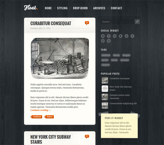 Float Blogger Template