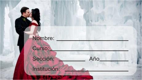 http://etiquetasparacuadernos.blogspot.com/2014/10/pareja-de-novios-ella-con-vestido-rojo.html