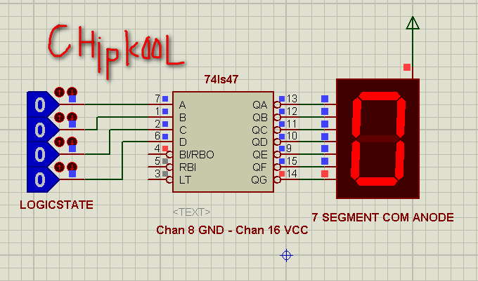 Decoding Ic 74ls47 7 Segment Led
