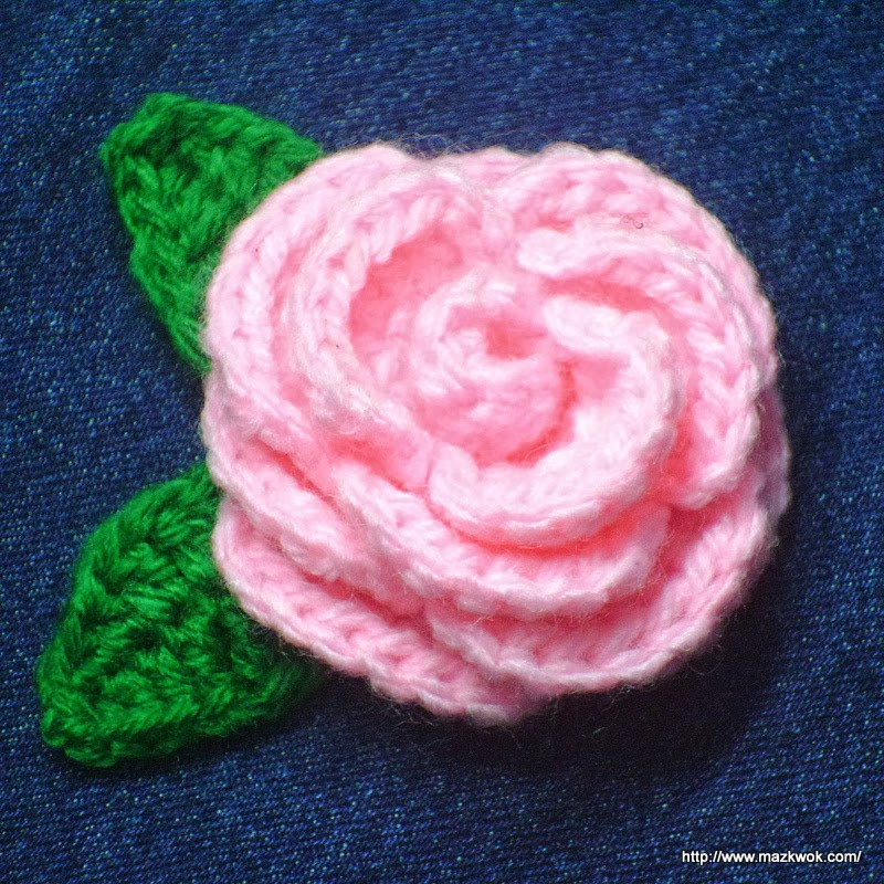 Crochet Patterns Of Roses : Blooming rose