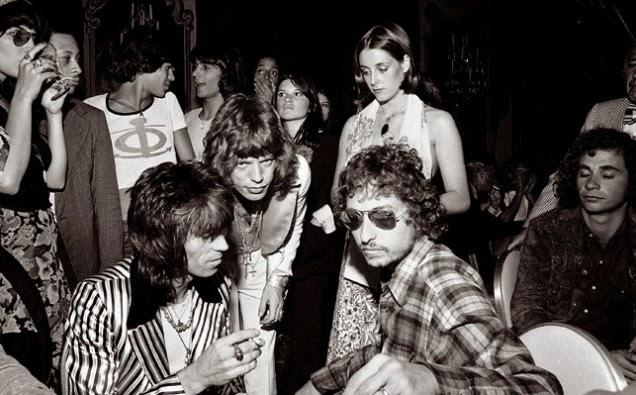 Bob Dylan con los Rolling Stones