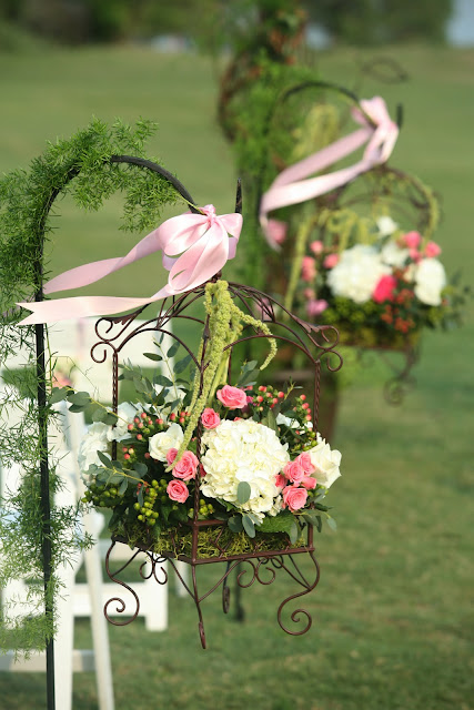 Wedding Flowers On Shepherds Hooks : Sincerely yours english garden wedding with a tropical