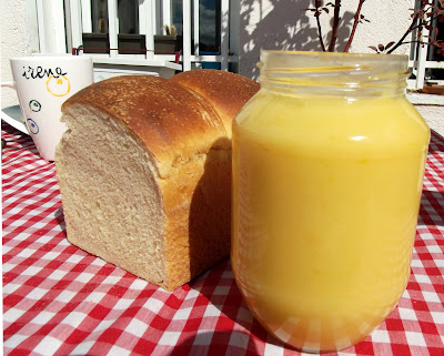 Crema de limón con Pan de leche en molde, Lemon Curd y Simple Milk Loaf