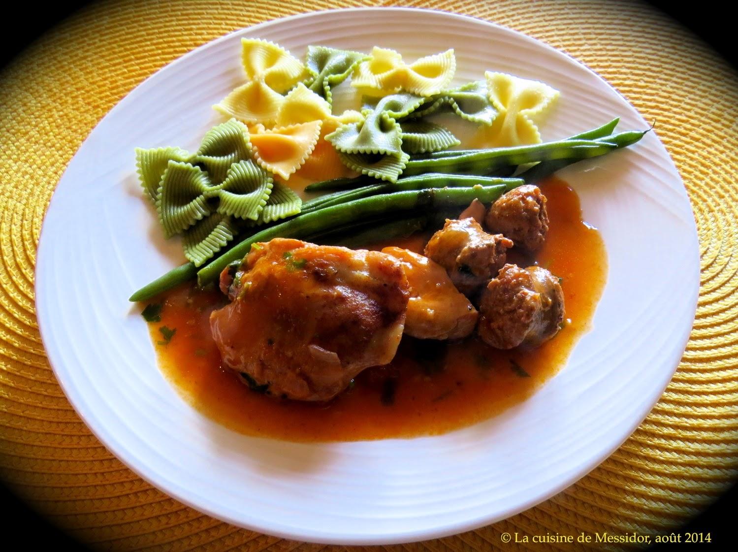 La cuisine de messidor mijot de poulet la saucisse for Cuisine a l italienne