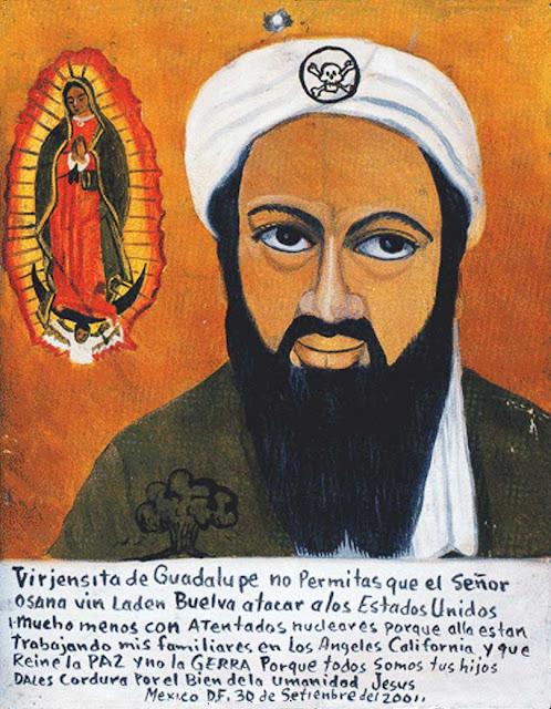 talibanes,osama bin laden,, exvoto mexicano