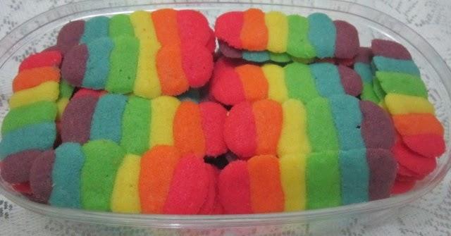 Resep Kue Kering Lidah Kucing Rainbow   Resep Kue Dan Masakan Lengkap