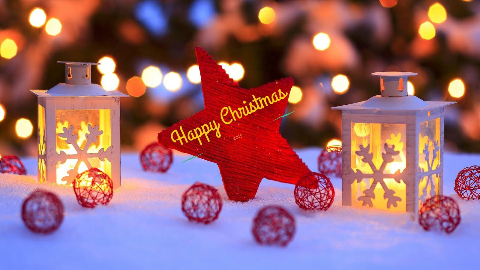 Star In Snow Christmas HD Wallaper