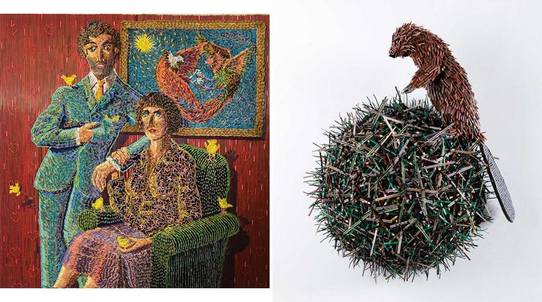 Esculturas increíblemente detalladas construidos con lápices
