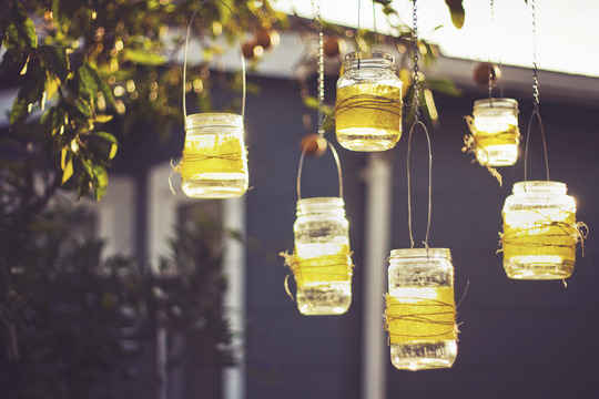 Dishfunctional designs diy mason jar crafts home decor for Hanging candles diy