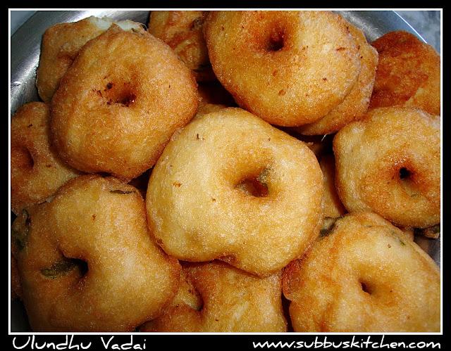Ulundhu(Urdhal) vadai/Medhuvadai