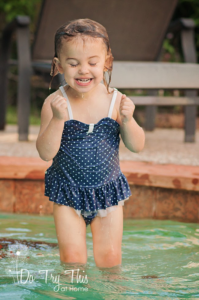 Toddler ready to swim