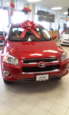 Oversize bow, Car bow, Lou Fusz Toyota, Lou Fusz Christmas