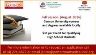Gannon University Fall Session