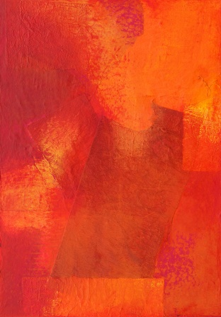 toile de grand format_abstrait_rouge_orange