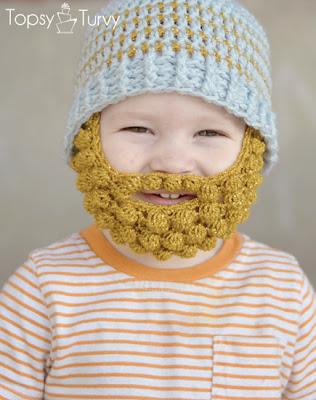 Free Crochet Pattern Bobble Hat : tangled happy: Bobble Bearded Beanie