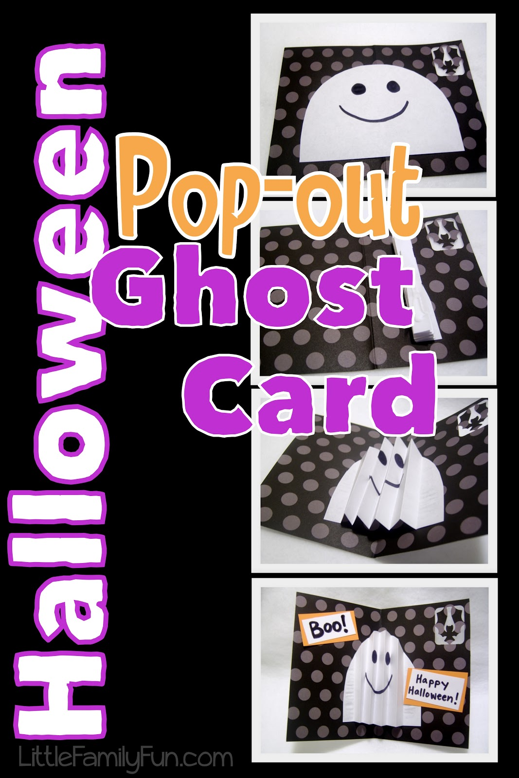 i wanted to make some cards to send to grandmas grandpas and came up with a fun idea to do an accordion folded pop out ghost card say that 10 times - What To Say In A Halloween Card