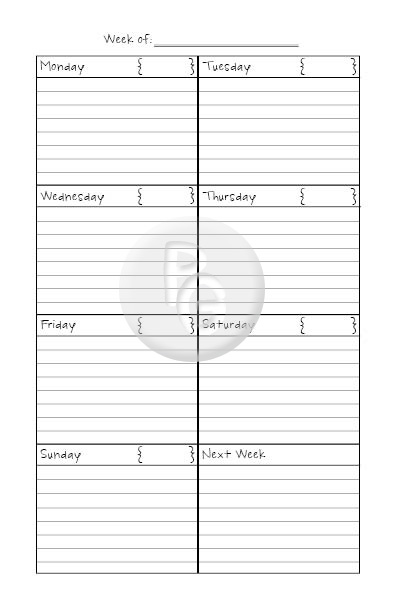 personal daily journal template