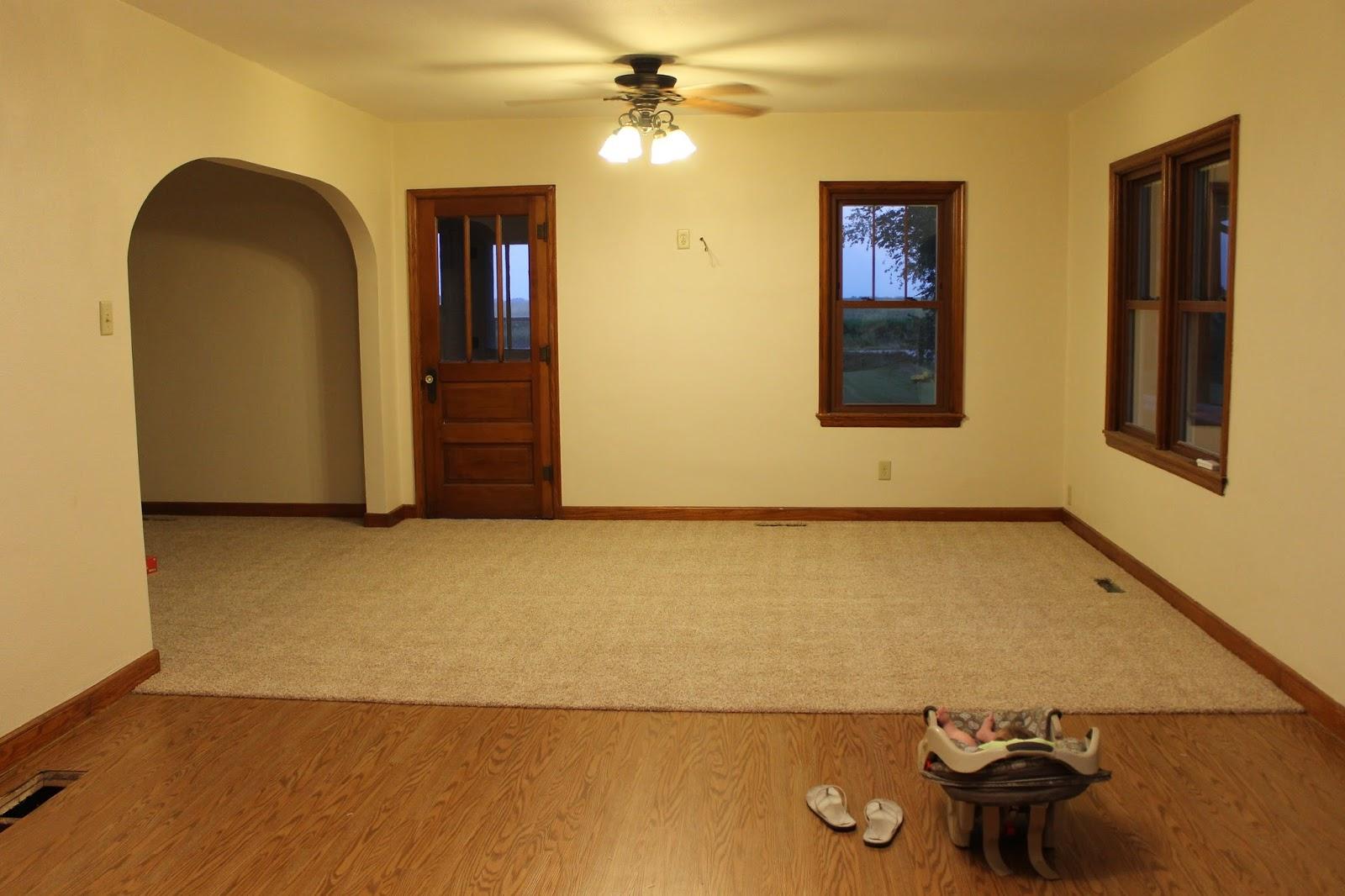new carpet floors in living room