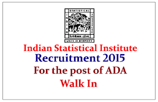 Indian Statistical Institute Hiring for the post of Administrative Document Analysis 2015