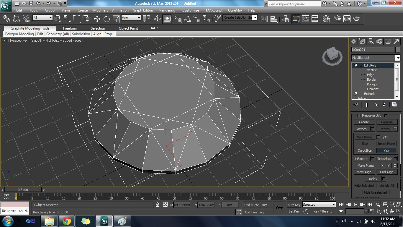 3ds max how to delete non selected polygons