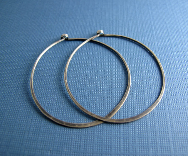 Gypsy Dancer Hammered Wire Hoop Earrings by Beth Hemmila of Hint Jewelry