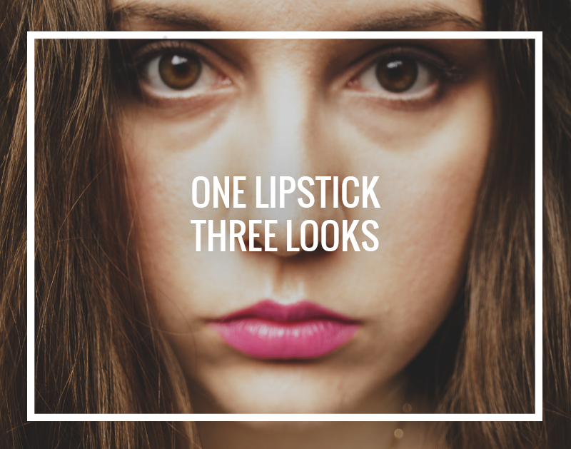 One lipstick, three looks - Gendots
