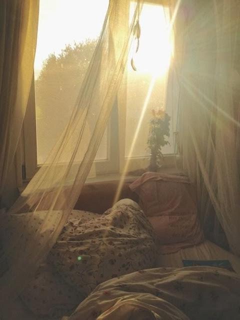 amanecer dormitorio edredón
