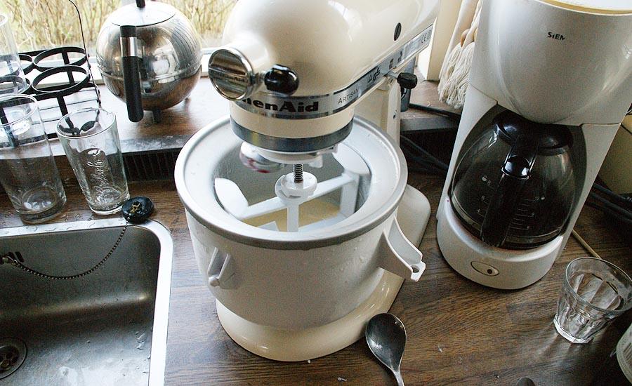 ijs maken met kitchenaid