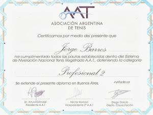 Diploma Profesional de la  AAT