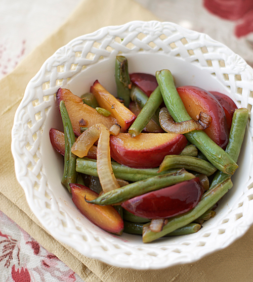 plum green bean salad