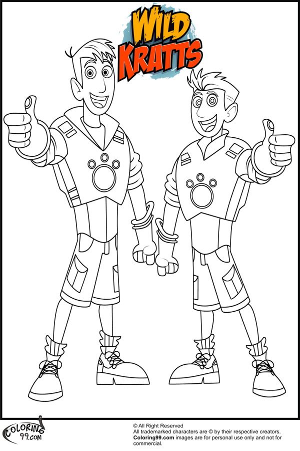 wildkratts free coloring pages