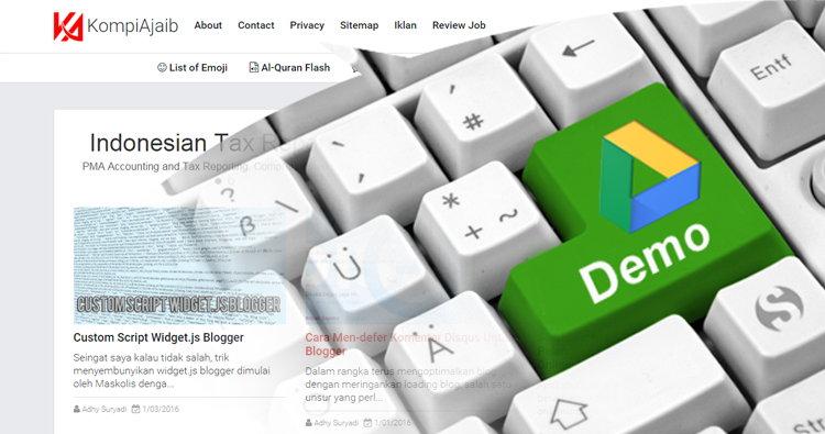 Membuat Demo Tutorial Blog Di Google Drive