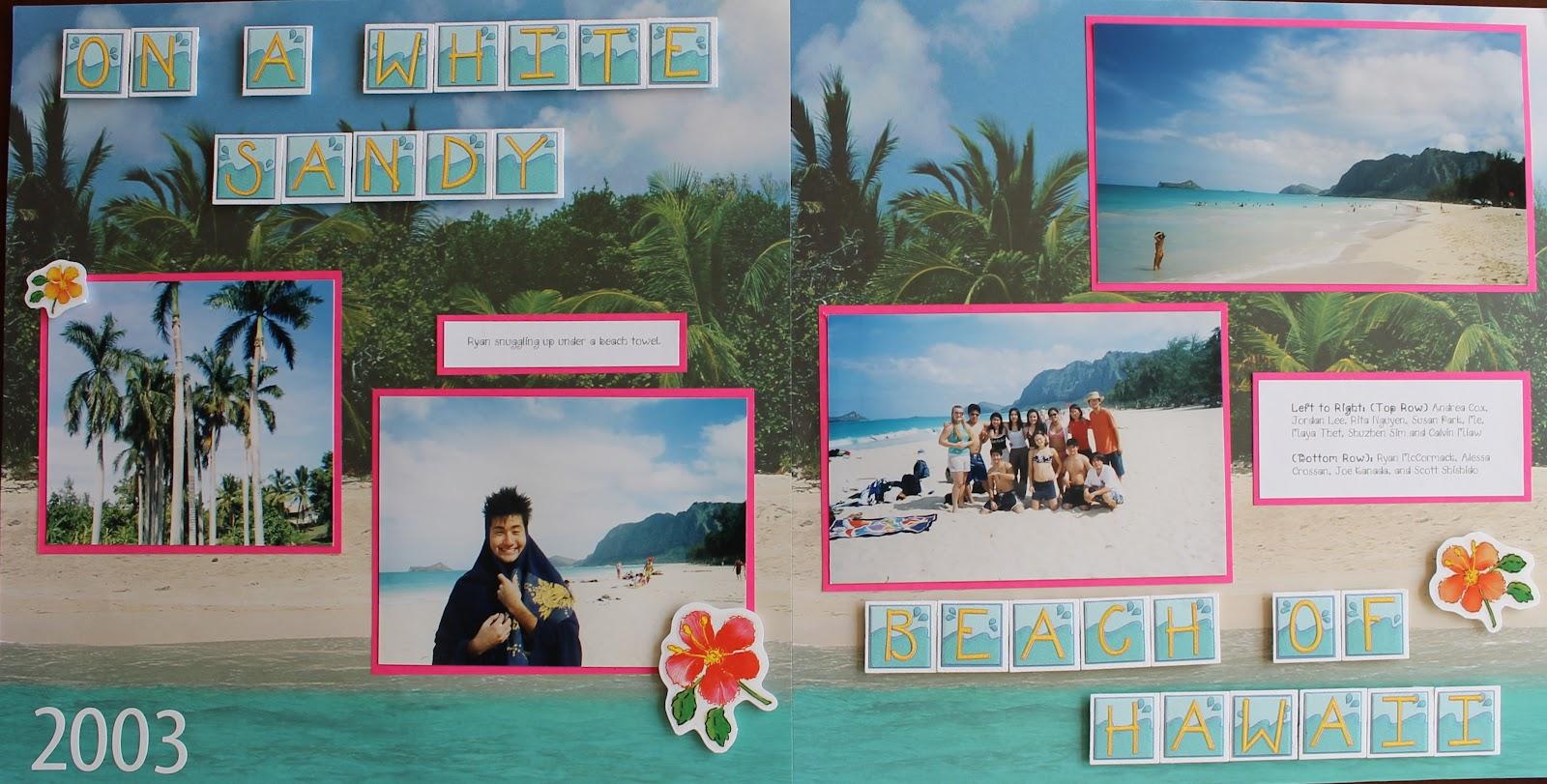 Scrapbook ideas hawaii - Hawaii Scrapbook Layouts Keep Coming
