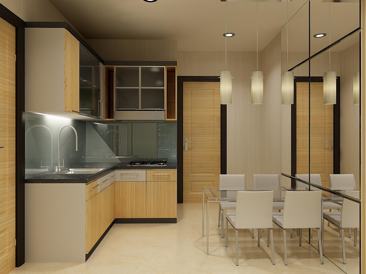 Related to tips interior minimalis bernuansa kafe interior minimalis - Desain Interior Dapur Minimalis Sederhana Dengan Dinding Kaca