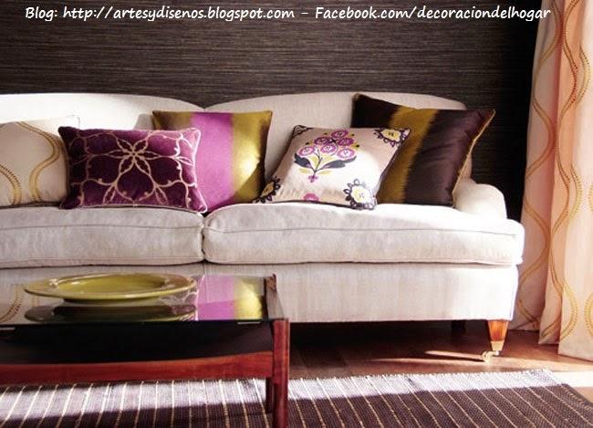 COMO DECORAR LOS AMBIENTES CON COJINES by artesydisenos.blogspot.com