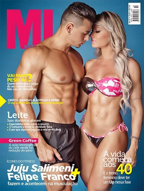 Juju Salimeni e Felipe Franco estampam capa da Muscle in Form de março. Foto: Samuel Melim - Divulgação