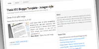 SEO Thesis Blogger Template - Juragan Style