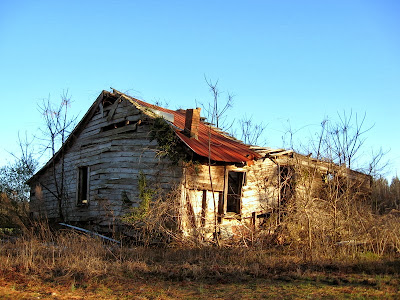 Old farm house falling down